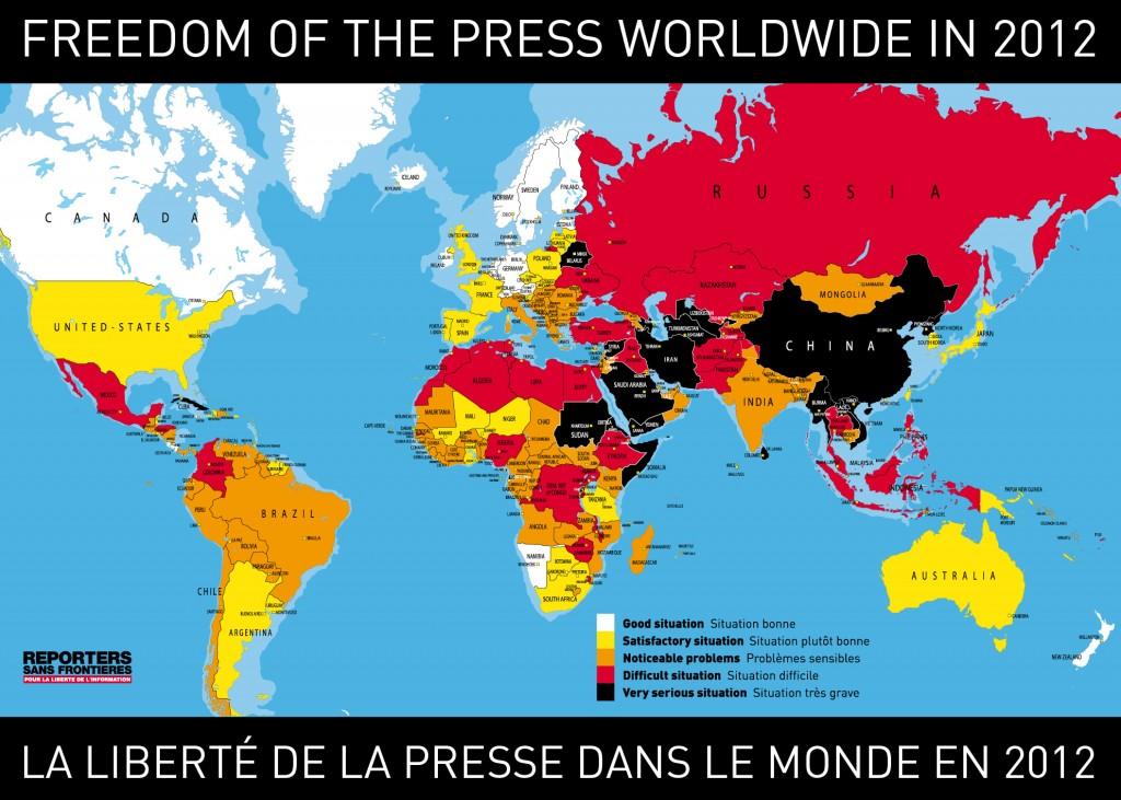 Karte Freie Presse