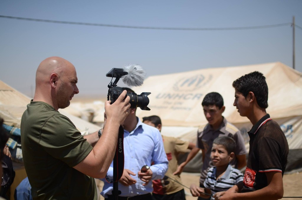 Aufnahmen in eines der Flüchtlingscamps Foto: Enno Lenze