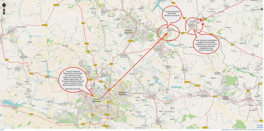 Uglegorsk Ukraine Karte